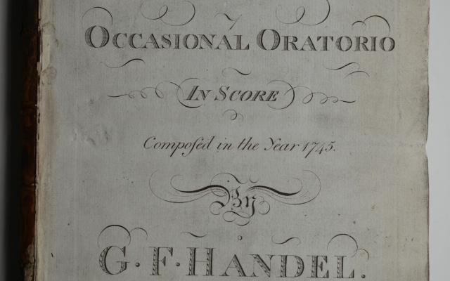 Nr. 6: The Occasional Oratorio, Titelseite